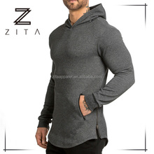 Bodybuilding Oversized Fitness Gym Sports Wear Wholesale Men's Muscle Fit Hoodie Pullover Sweatshirt