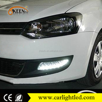 KEEN Car Styling for VW Polo Good Quality LED Fog lamp DRL 2011-2013 Polo LED DRL Daytime Running Light