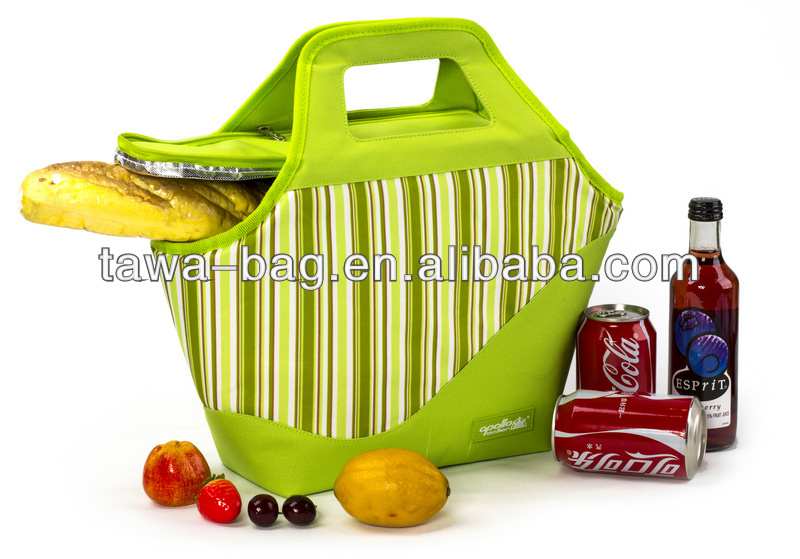 Bicycle cooler lunch bag shopping cooler lunch bag insulated lunch cooler bag with velcro closure