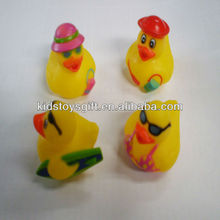 lovely soft PVC beach rubber duck toy/bulk plastic toy