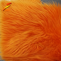 STABILE synthetic sheepskin long hair colored faux fur trim fabric