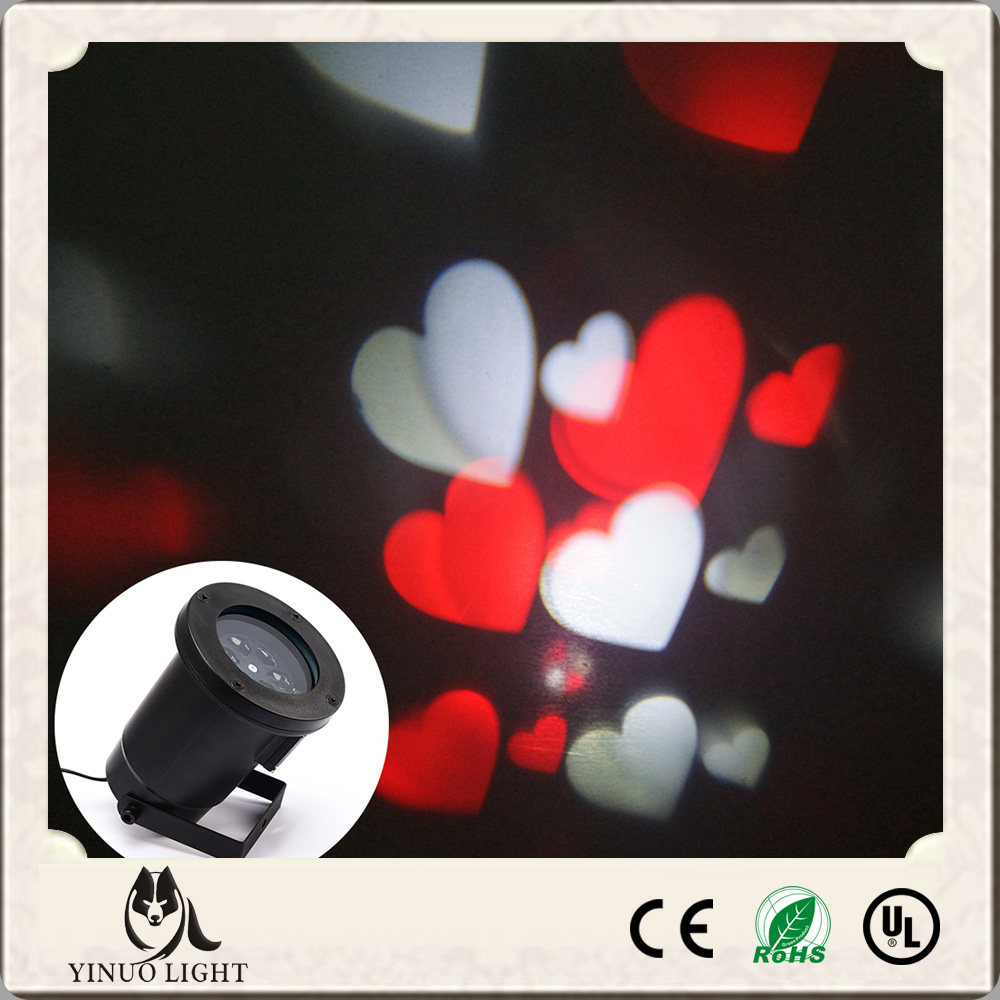 Romantic LED Projector Lights outdoor waterproof red white moving 12V projection for Christmas garden wedding decoration