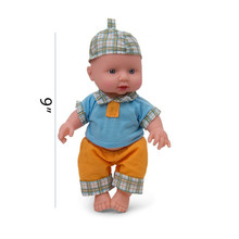 ICTI certificated custom made 9 Inch Baby Doll with Push and Talk And Sounds
