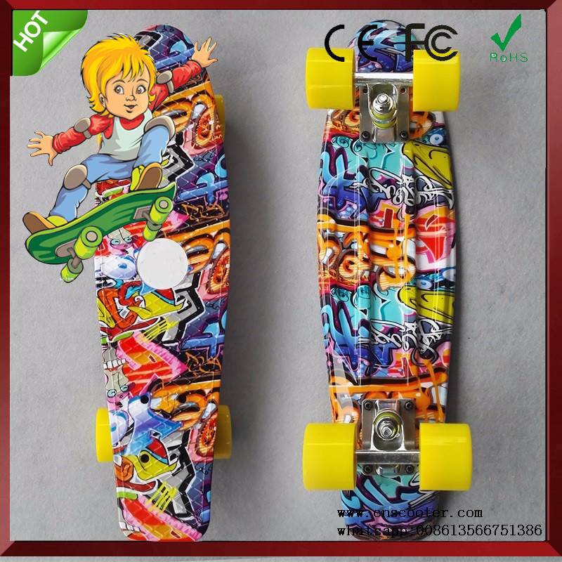 New Design water transfer print series element skateboard