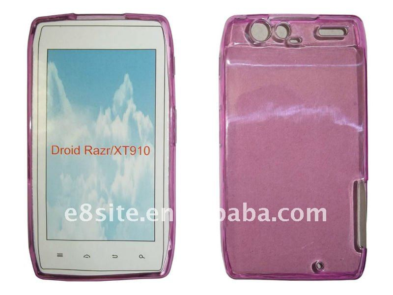 Glossy TPU Gel Cover Case For Motorola Droid Razr XT910/XT912