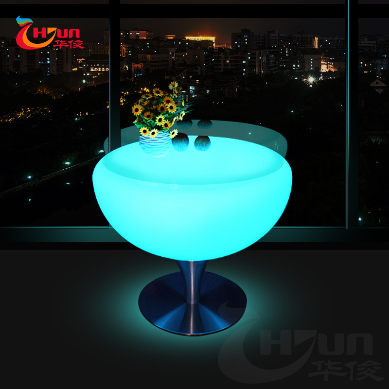 Plastic luminous led lighting table for party & event & living room
