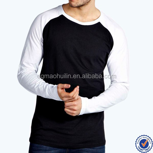 Wholesale customs sample designs newest style mens blank long sleeve t shirt