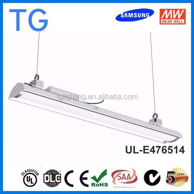 2016 New design Hanging linear high bay fixture replace t5 lowes fluorescent light fixtures