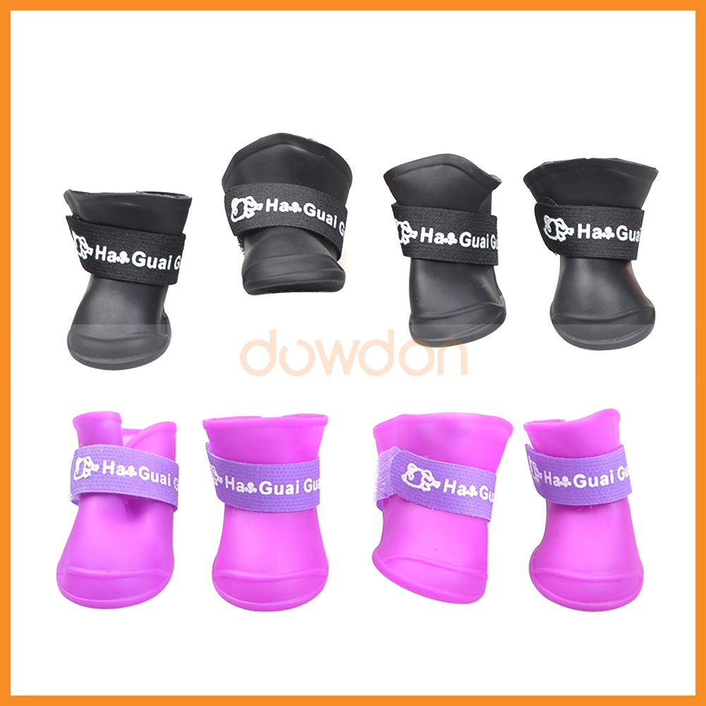 Wholesale Walk Adjustable Silicone Pet Dog Puppy Rain Boots