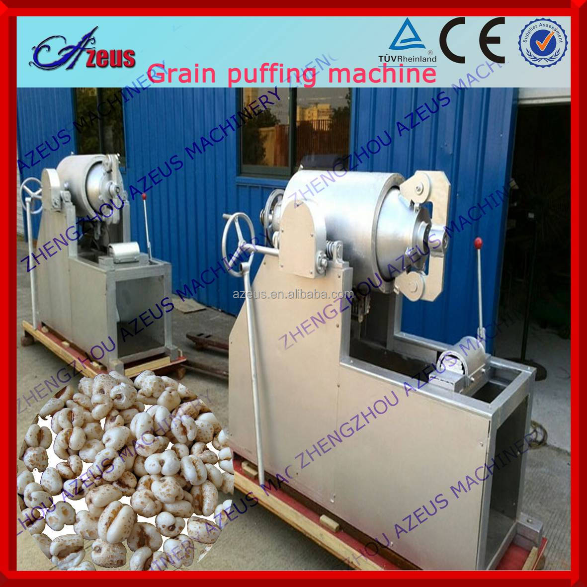 60-120kg/h maize bulking machine for making puffed rice corn wheat with high quality