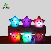 Best Selling Shining Cotton Star Shape Led Light Pillow. Most Popular Led Light Pillow