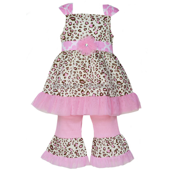 Wholesale Sexy Student Outfit Kids Ruffle Set Newest Child Clothing Set