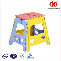 2016 Wholesale Durable kids clear plastic stool