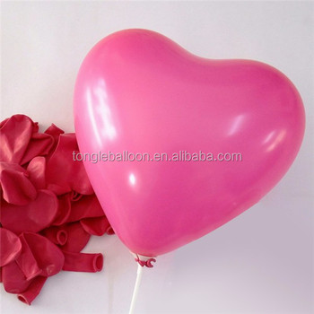 Latex heart shape balloon for wedding decoration