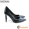 MK052-D1-B10 BLACK women ladies genuine leather high heel dress shoes women elegant office/ party shoes