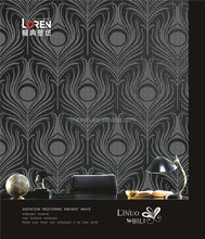 Loren Luxury black China glass bead wallpaper for sale from professional factory (W1706)