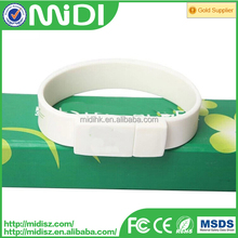 Hand band Usb silicone wristband/Bracelet usb flash drive with 16GB 32GB