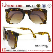 FONHCOO Alibaba China Supplier Bulk Buy Cheap Custom Printed Leopard Nickel Free Women Sunglasses