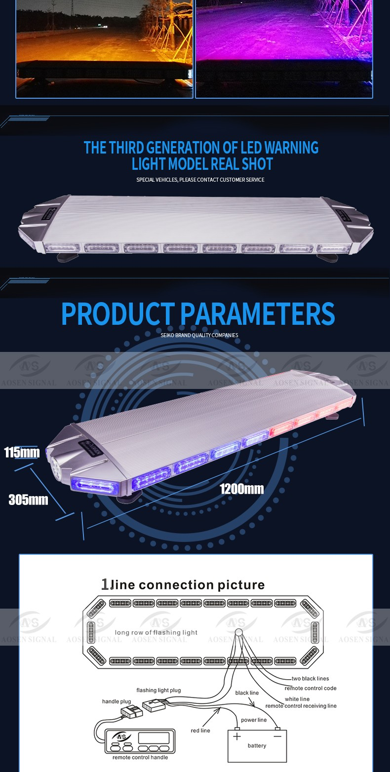 Warranty 5 year Newest Super Thin Led lightbar for police TBD-7E925 with trade assurance