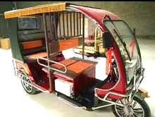 battery auto electric ICATtuk tuk tricycle for passenger with three wheels