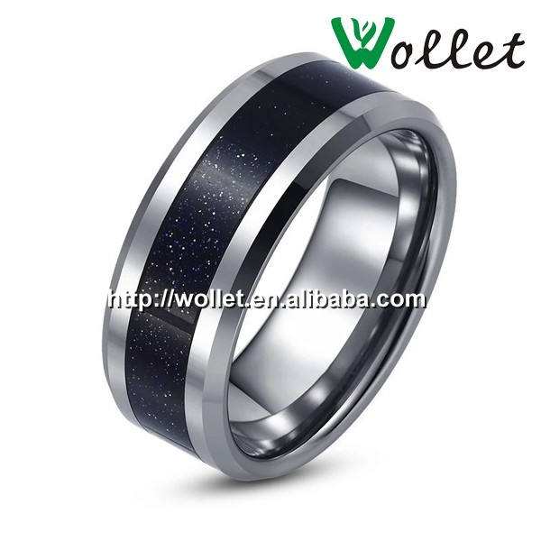 wollet fashion jewelry wholesale black tungsten carbide ring for men