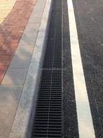 Polymer drainage grate used in road and public construction