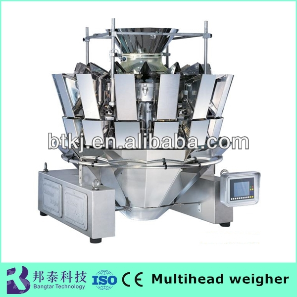 High speed high accuracy ten bucket dry fruit multihead filling weighing machine