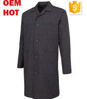 High Quality Industrial esd Workwear Overcoat Black Dust Coat