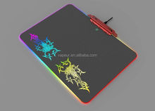 Gaming mouse pad with RGB led flashing function