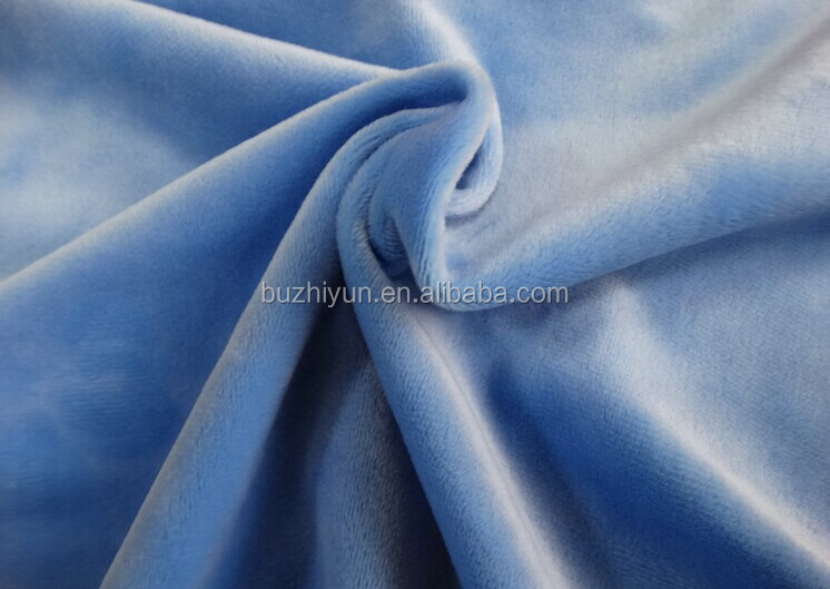 polyester crystal velboa plush fabric