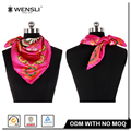 2017 Wholesale Women Silk Scarf Fashion Pattern Screen Printing Silk Scarf