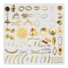 metal jewelry components pendant pinch bails connector bead cap cone cord tips end caps wholesale brass jewelry findings