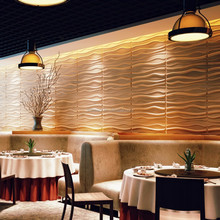 Eco-friendly pvc easy install wall paneling textured wave board 3d wall panels