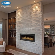 wholesale white stone veneer fireplace surround interior walls covering decorative stone