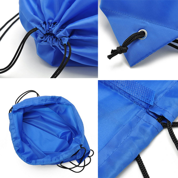Custom drawstring backpack bag with front zipper pocket