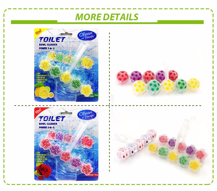 5*10g colorful toilet cleaner with plastic hook/ toilet cleaning blocks/toilet rim block for cleaning