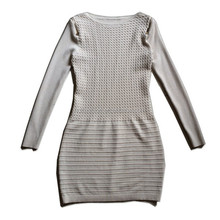 Fancy knit sweater pattern long sleeve latest dress designs for ladies