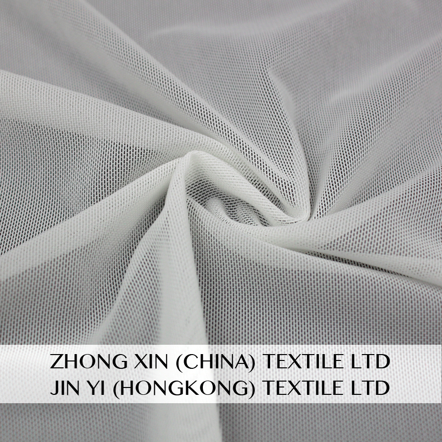 factory direct sale 85 nylon 15 spandex high elastic flexible mesh tricot fabric