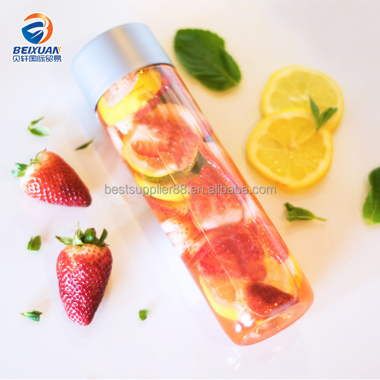 450ml 550ml Wide Mouth Voss Style Water Bottle Plastic PET Bottle For DIY Kid To Make Rainbow
