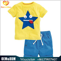 China brand 2-7years old kids clothing high quality casual cotton baby boys outfits summer cool children clothes sets