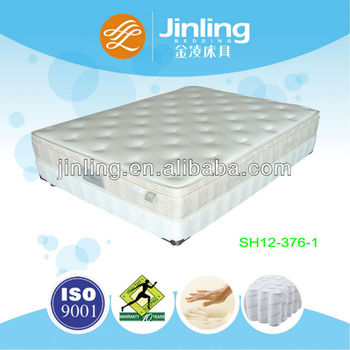 3-zone pocket spring mattress with memory foam in filling