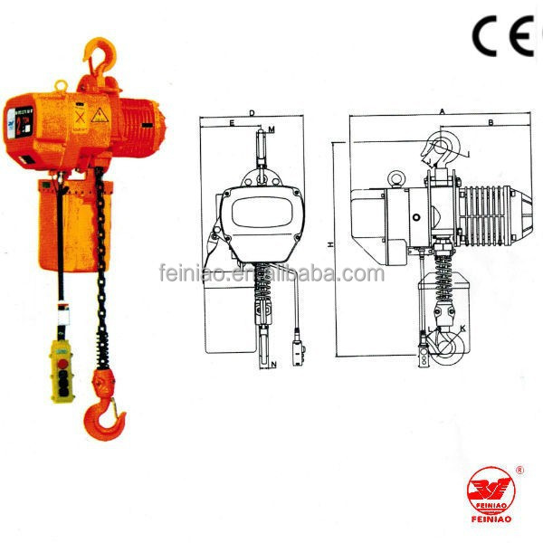 China supplier Factory Price Electric Hoist Pulley Block /Monorail Electric Hoists Cranes