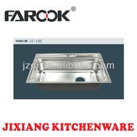 high quality enlarged single bowl stainless steel undermount kitchen dishwash sink