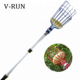 telescoping garden tool fruit picker pole with 3 claw adjustable fruit grabber