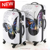 New Design Beautiful Butterfly Pc Luggage