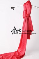 Ice Silk Fabric For Wedding Decoration - Red Color