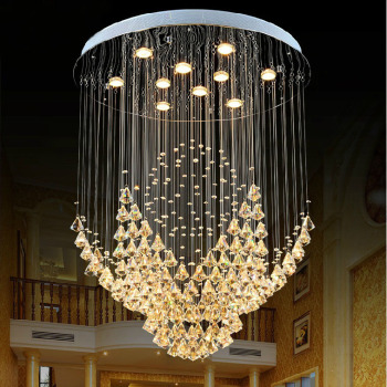 Amazing Crystal Stair Chandelier Lamp