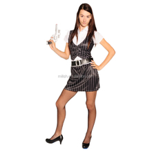 Party Carnival adult sexy female women gangster girl costume MAA-80