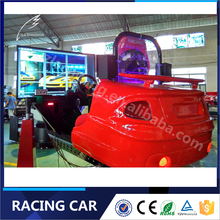 Coin Operated Games Full Motion 5D Racing Car Game Machine Simulator For Electric Dynamic System
