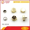Hot sale metal snap fasteners for clothing, hex studs rivets with screw hats
